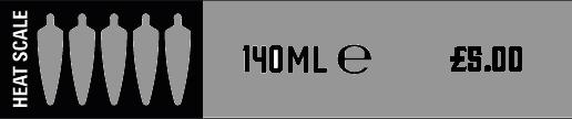 Heat Scale - 5 Chilli - Sauce - £5.00